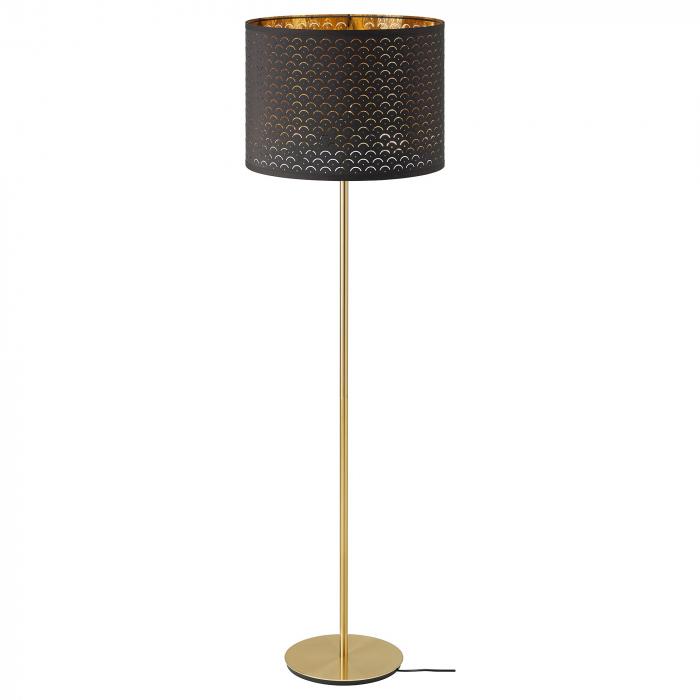 Lampadar Majestic cu abrajur perforat, maro - 163cm 0