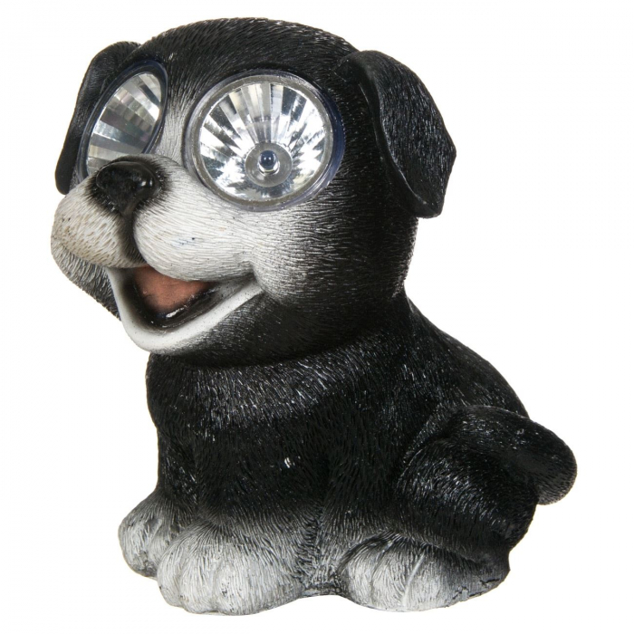 Lampă solară câine, negru,15 cm [1]