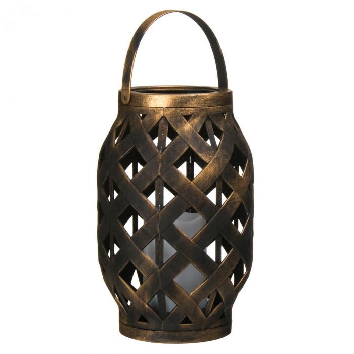Lampă decorativă,culoarea bronzului,plastic,LED,suspendată 23 cm 1