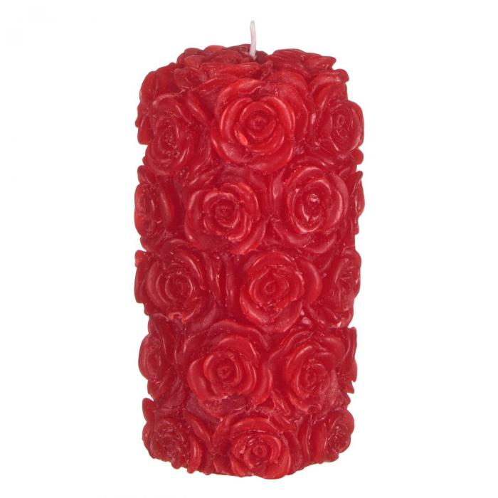Lumânare roșie 3D,7x13.5 cm 0