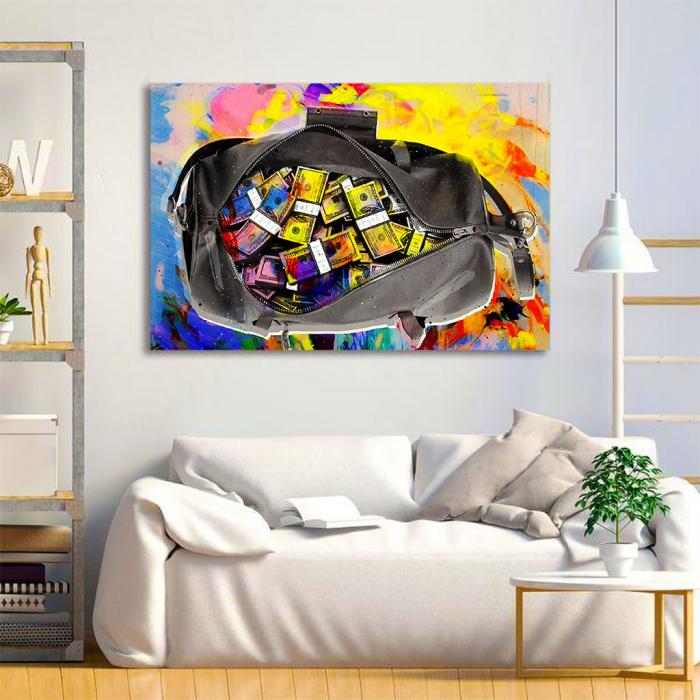 Tablou Canvas - Money bag 1
