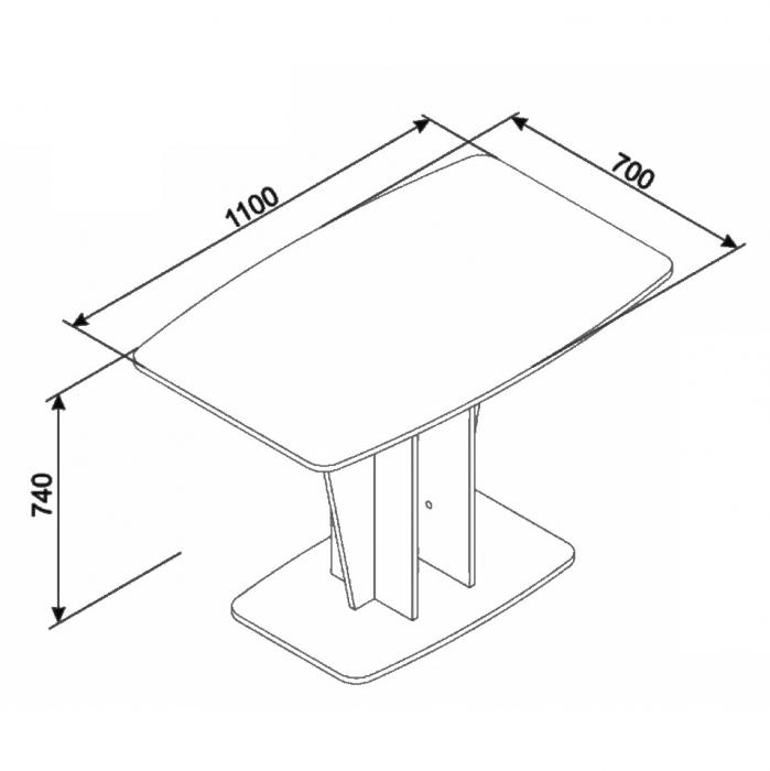 Masă bucătărie maro 110 x 70 x 74 cm [3]