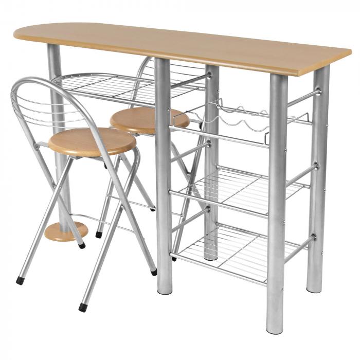 Set masă ovală fixă cu 2 scaune [0]
