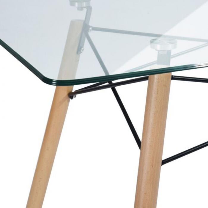 Masă bucătărie fixă(sticlă)-120 x 70 x 72 cm 2