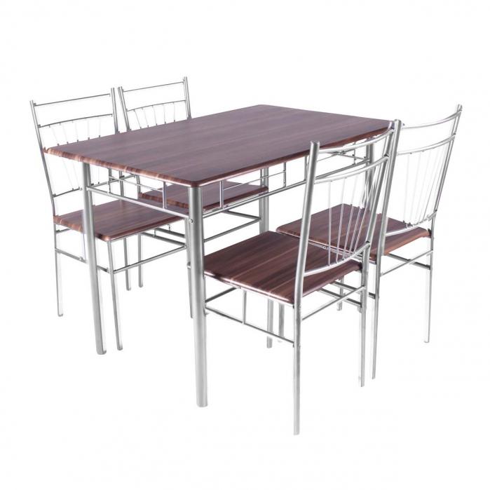 Set Melanie masă cu 4 scaune, maro [0]