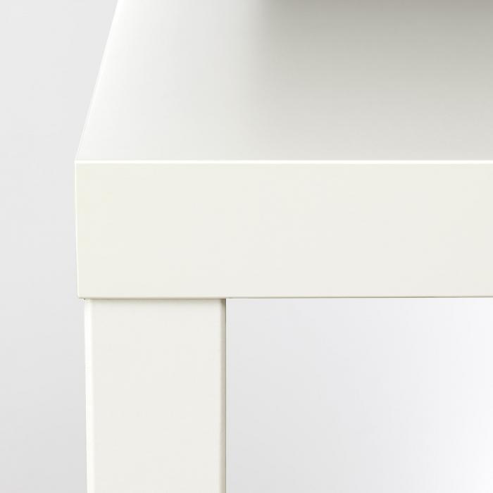 Măsuță de cafea albă, PAL - 55x55cm 4