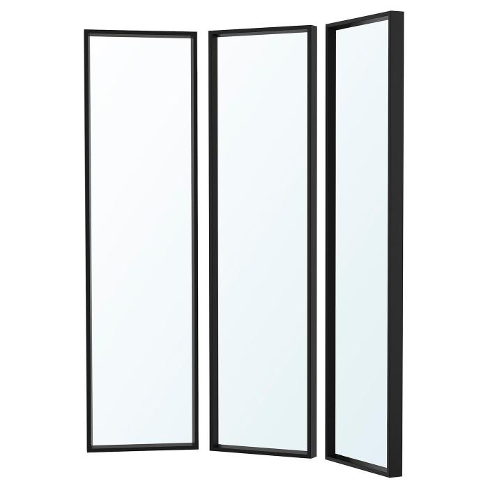Oglinda tripla ,negru 130x150 1