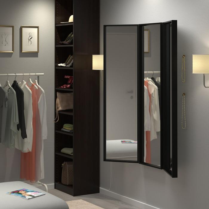 Oglinda tripla ,negru 130x150 0