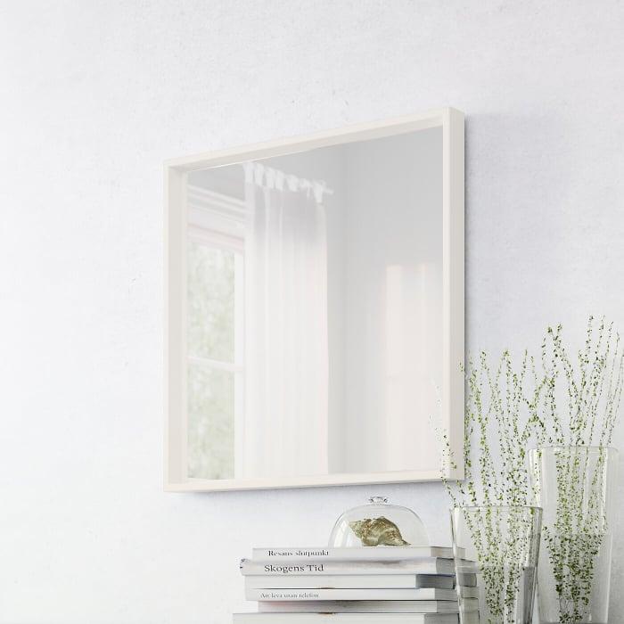 Oglindă, alba 65x65 cm 2