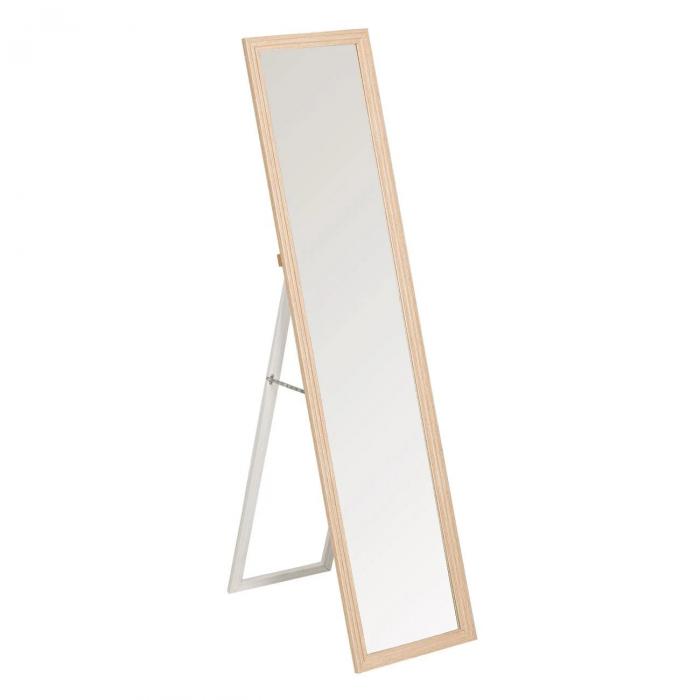 Oglindă, culoare stejar cu suport 36x156 cm 0