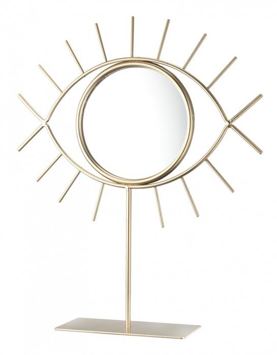 Oglindă decorativă , 30x25cm , cu baza aurie [0]