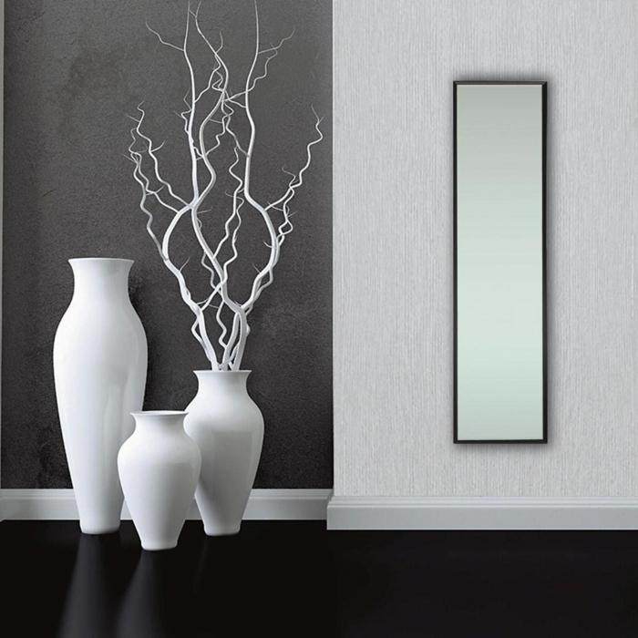 Oglindă 30 x 120 cm,ramă MDF negru Jolino 0