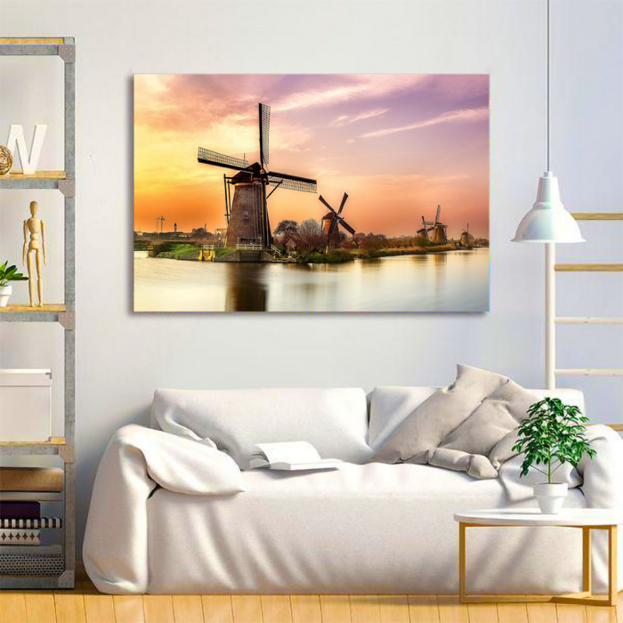 Tablou Canvas - Windmills 2