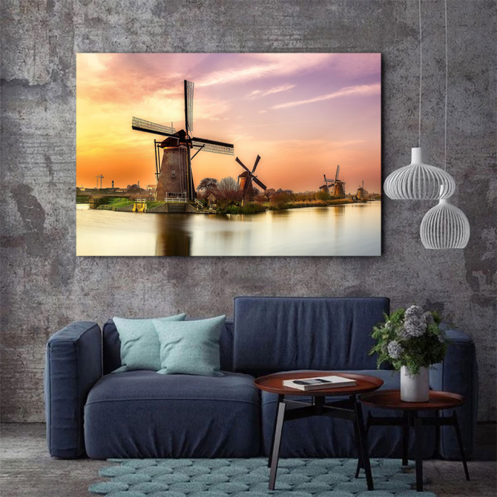 Tablou Canvas - Windmills 3