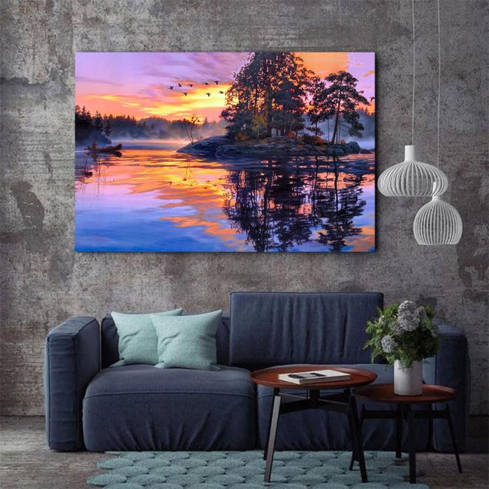 Tablou Canvas - Fall sunset [2]