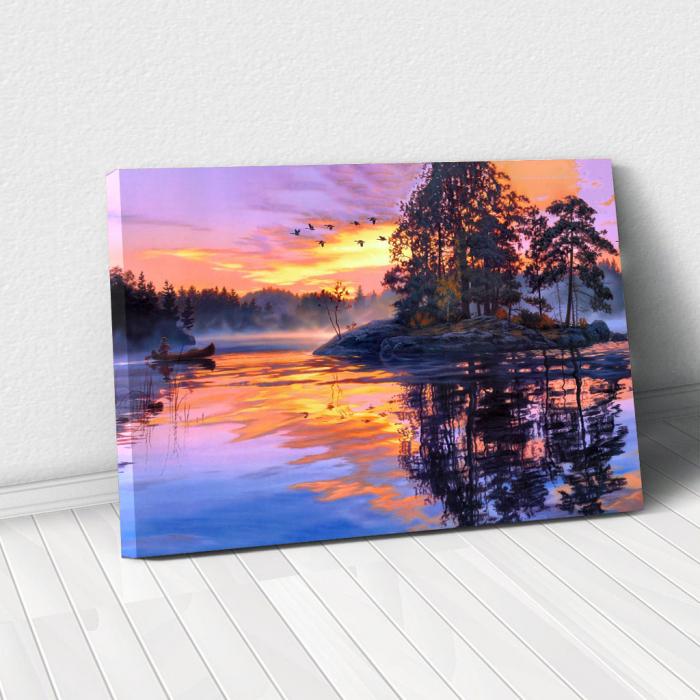 Tablou Canvas - Fall sunset [0]
