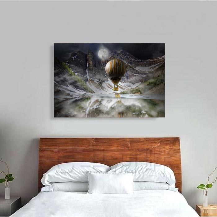 Tablou Canvas - Blue Mountain Balloons 2