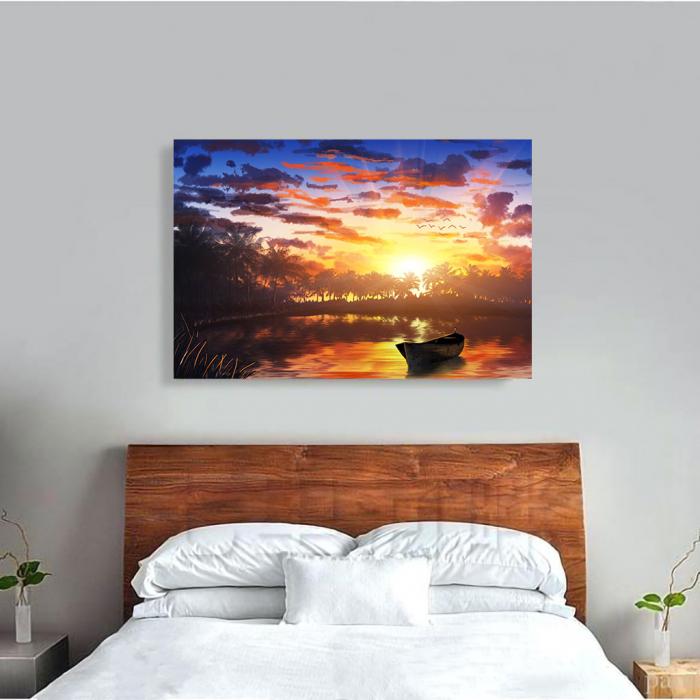 Tablou Canvas - Apus pe lac 3
