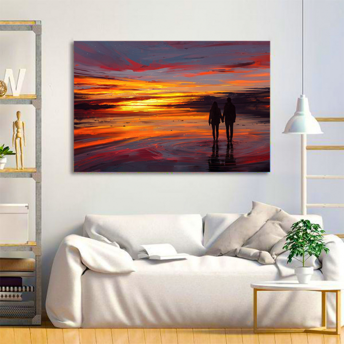Tablou Canvas - Sunset in love 1