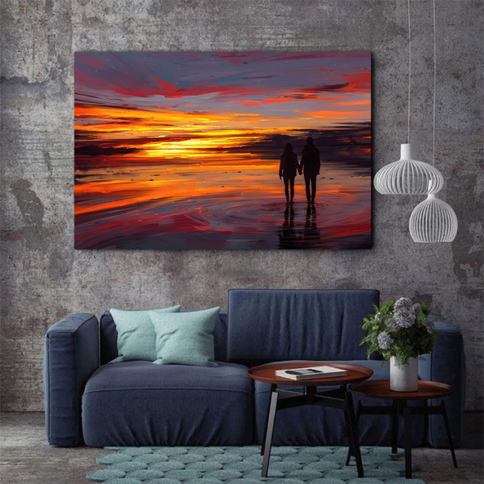 Tablou Canvas - Sunset in love 2