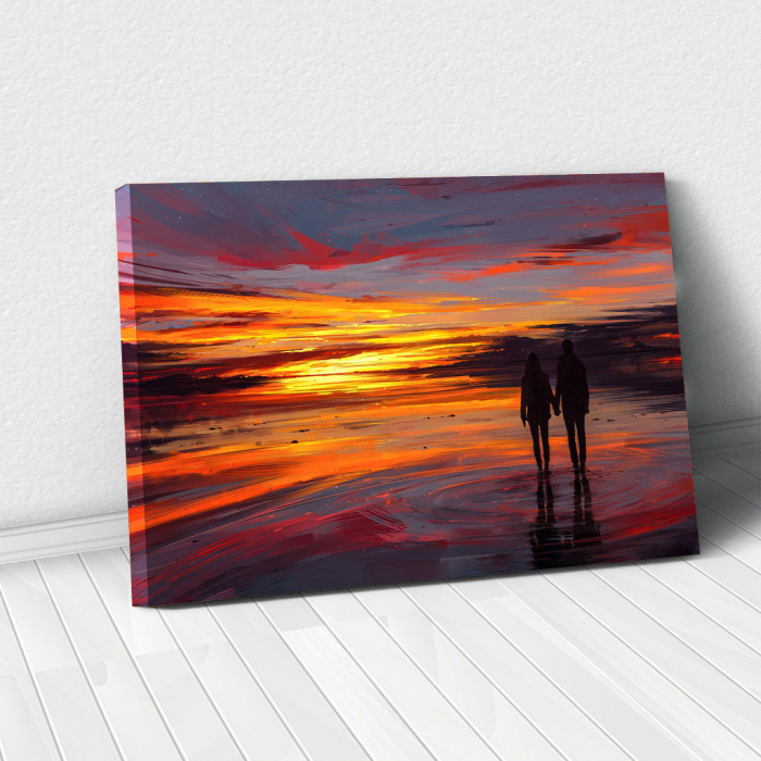 Tablou Canvas - Sunset in love 0