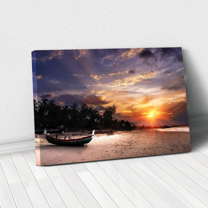 Tablou Canvas - Apus pe plaja [0]