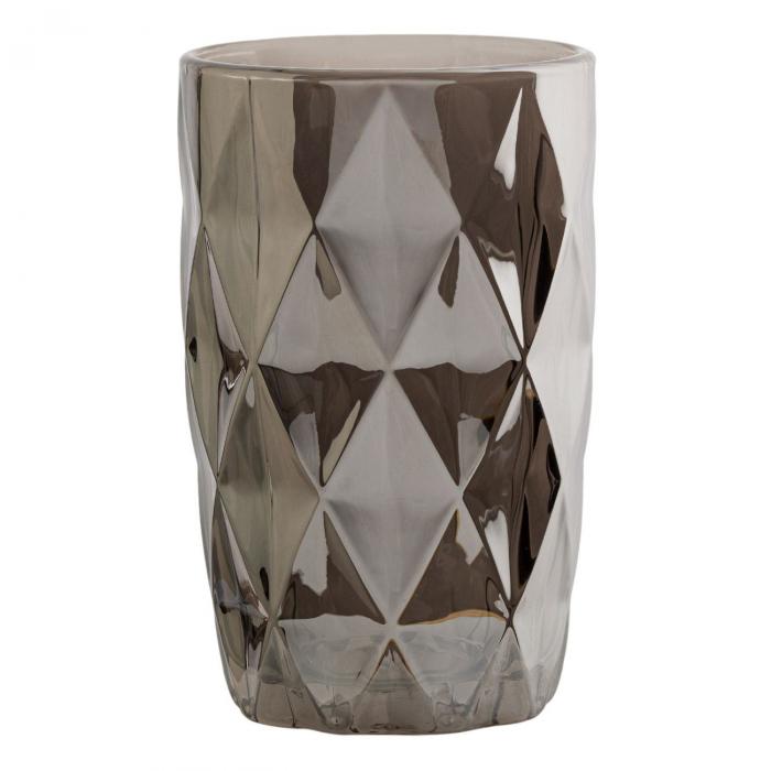 Pahar cu model,diamant metalic,sticlă,350 ml [1]