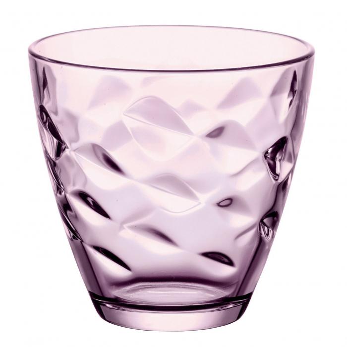 Pahar pentru apă / suc,sticlă lila, 260 ml, set 6 bucăți [1]