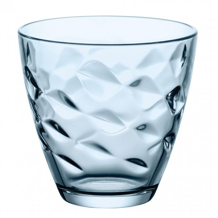 Pahar pentru apă / suc,sticlă bleu, 260 ml, set 6 bucăți [1]