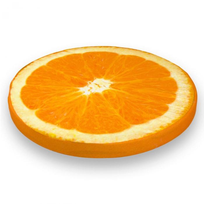 Pernă pentru șezut,model portocală,40x3.5 1
