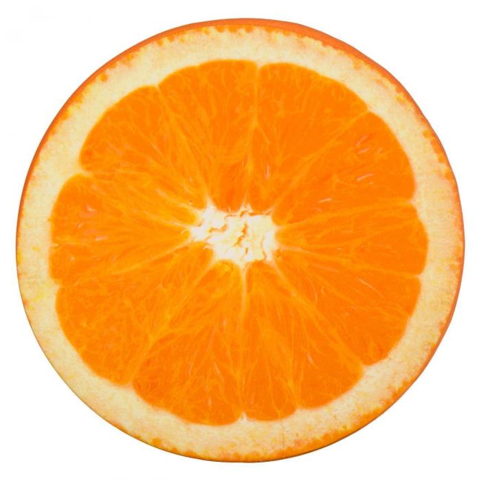 Pernă pentru șezut,model portocală,40x3.5 0