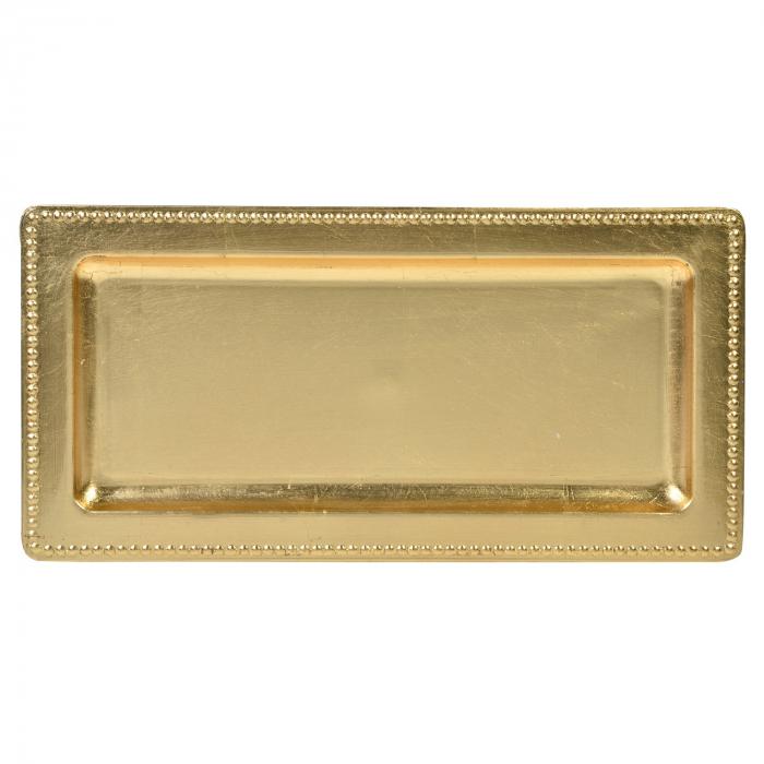 Platou decorativ din plastic, auriu - 35cm 0