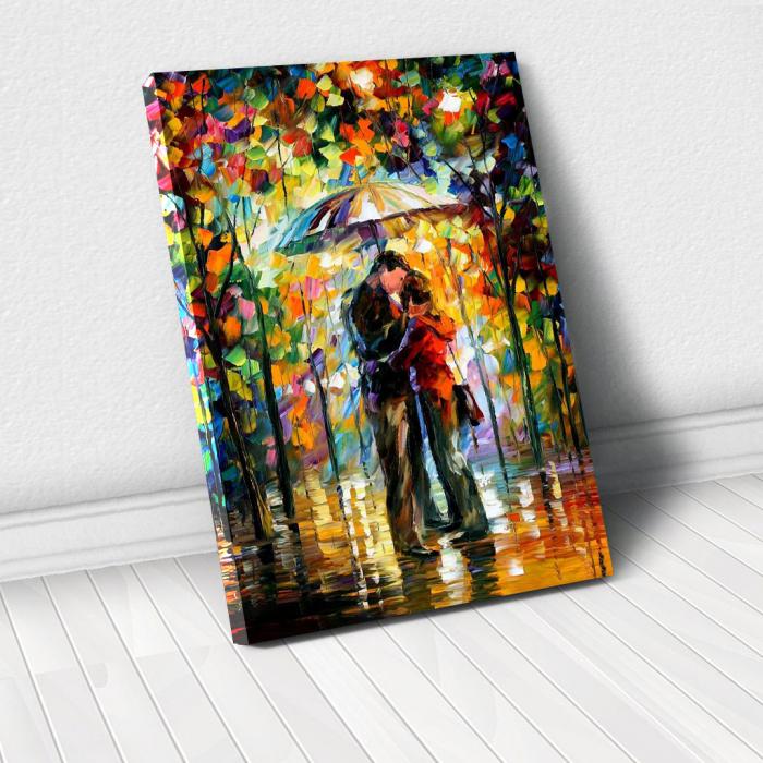 Tablou Canvas - Kiss in the rain 0