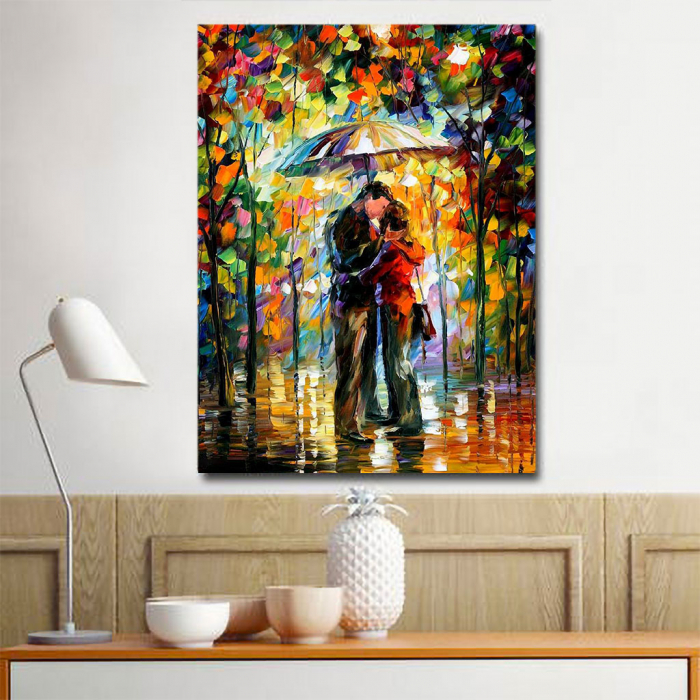 Tablou Canvas - Kiss in the rain [1]