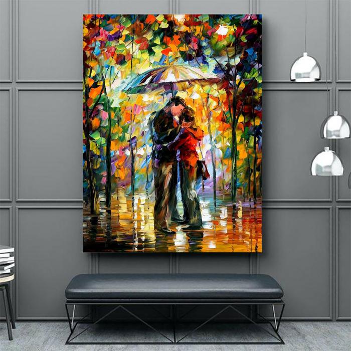 Tablou Canvas - Kiss in the rain [2]