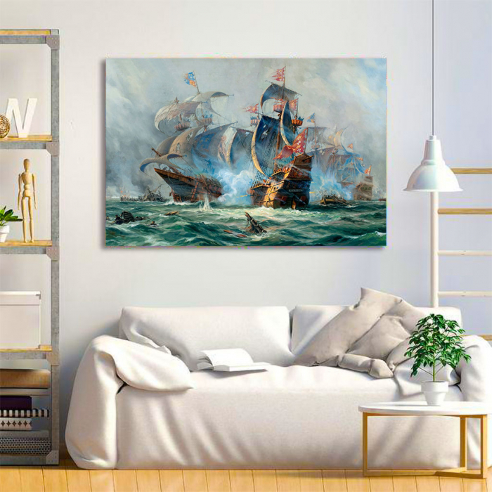 Tablou Canvas - Ships War 2