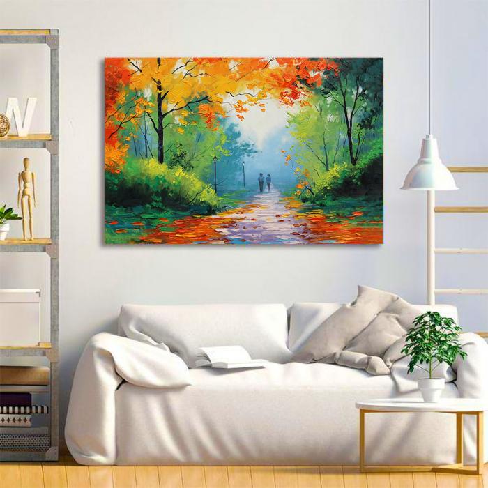 Tablou Canvas - Peisaj de toamna 1
