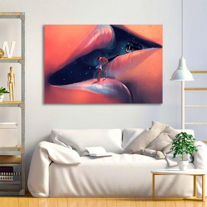 Tablou Canvas - Creative kiss [1]