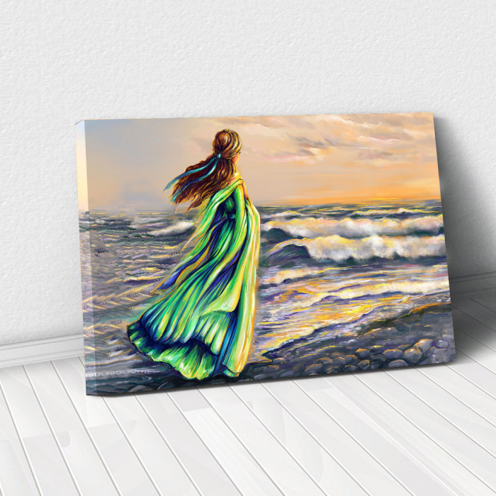 Tablou Canvas - Plimbare pe plaja 0