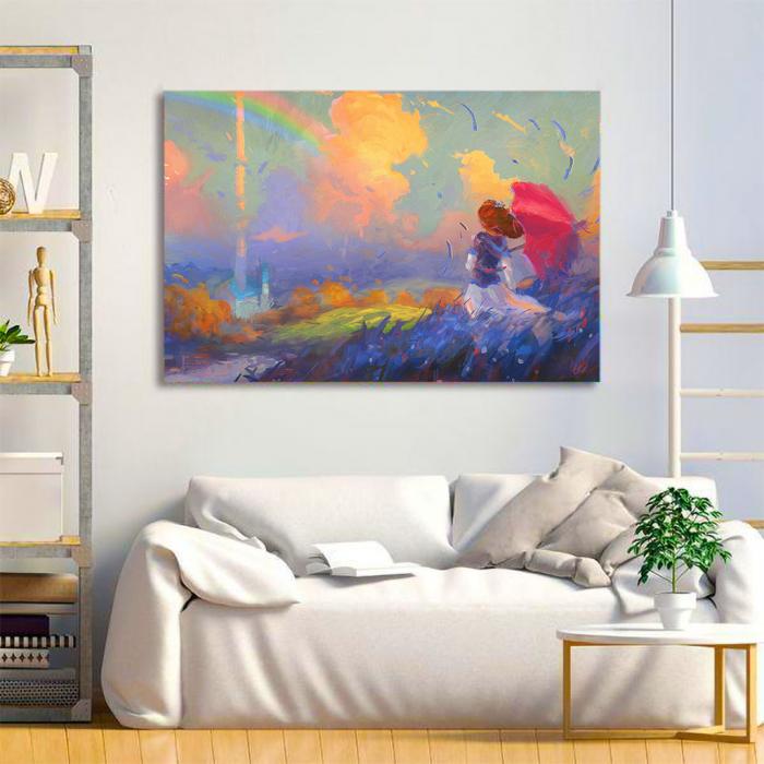 Tablou Canvas - Rainbow walk [1]