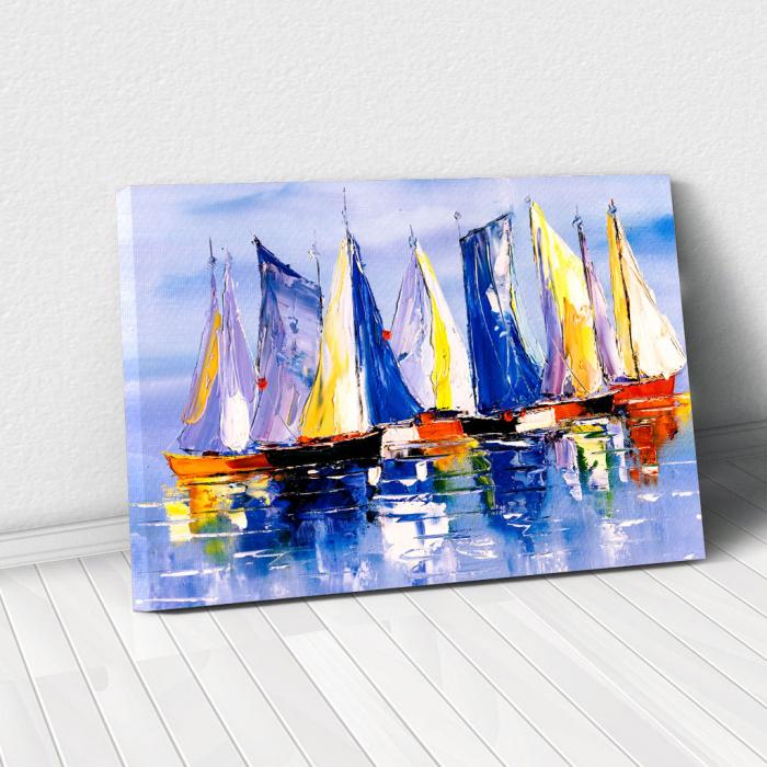 Tablou Canvas - Colourful Boats [0]