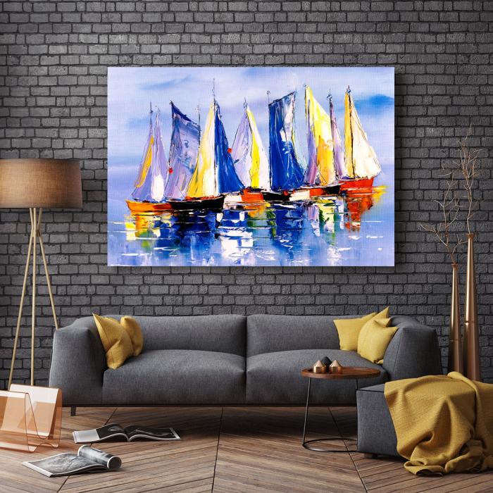 Tablou Canvas - Colourful Boats [2]