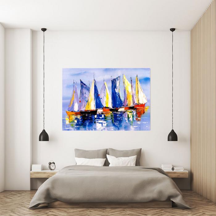 Tablou Canvas - Colourful Boats [3]