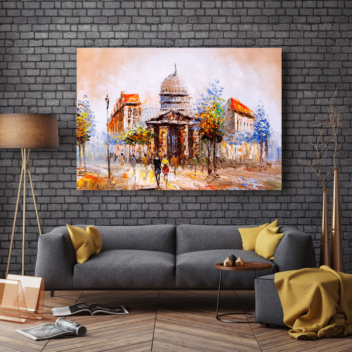 Tablou Canvas - Street view in France 2