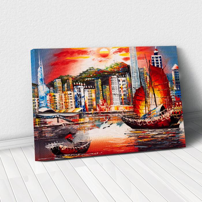 Tablou Canvas - Hong Kong View 0