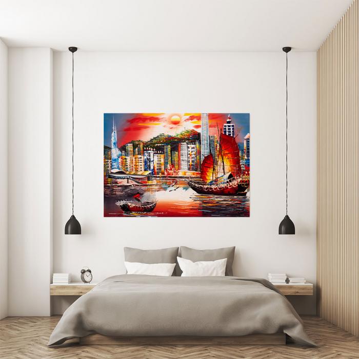 Tablou Canvas - Hong Kong View [3]