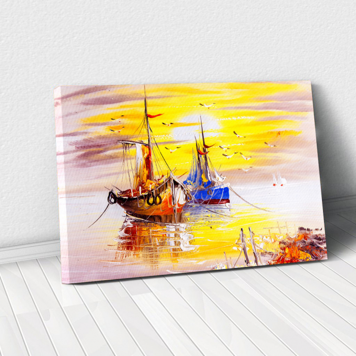 Tablou Canvas - Sunset in Venice 0