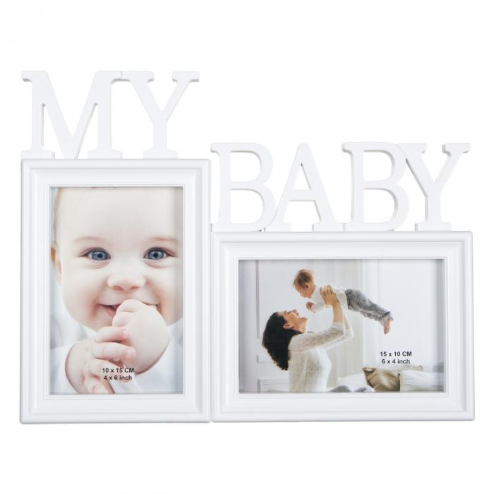 """Rama foto """" My Baby"""" pentru 2 fotografii - 31x24cm 0"""