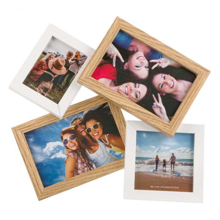 Rama foto cu 4 spatii pentru fotografii - 31.5x29cm 0