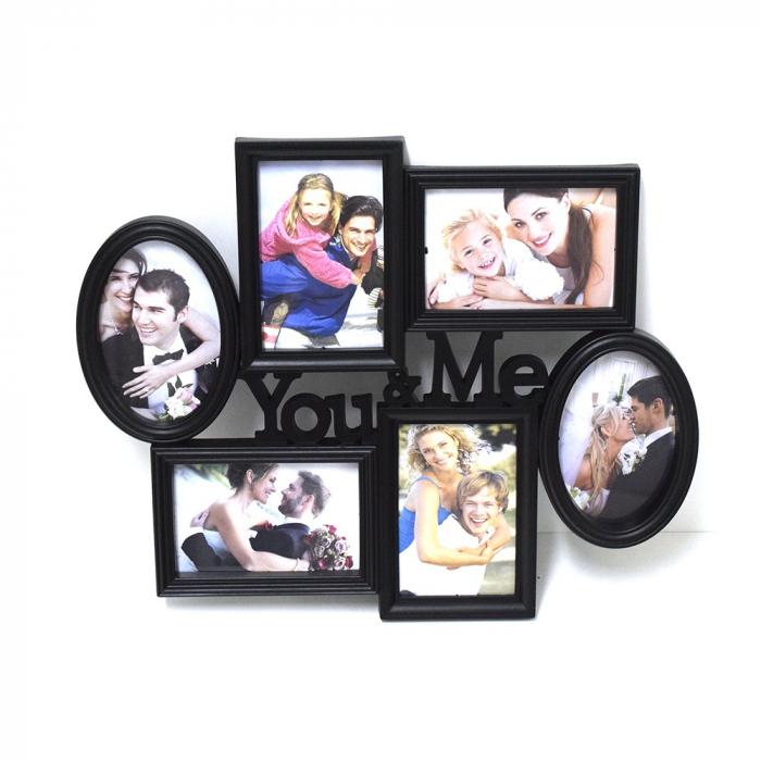 Ramă foto, You&Me, colaj 6 poze, 47 x 40 x 3 cm 0